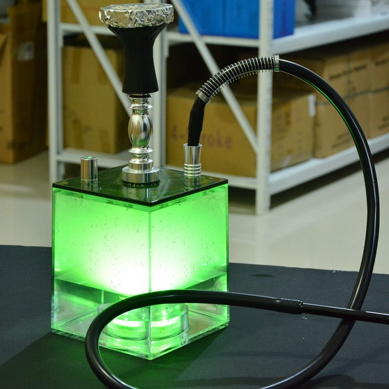 Transparent Acrylic Shisha set with LED Light Shee...
